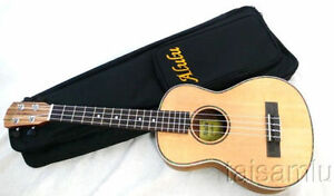 Nice solid Spruce and plywood zebra wood Tenor Ukulele YHT-10,with a soft bag**