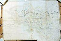 Bretagne carte routière 75 x 54 cm XIXe sicle