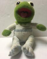 Muppet Babies Baby Kermit Frog Plush Hasbro Softies Jim Henson Pampers 1984 VTG
