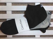 3 x UNISEX CALVIN KLEIN Cotton Trainer Socks UK foot 6.5-11, 2 x Black ,1 x Grey