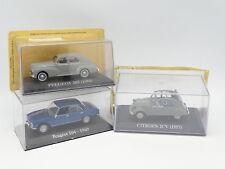 Ixo Presse 1/43 - Lot de 3 : Peugeot 504 - Peugeot 203 - Citroen 2CV
