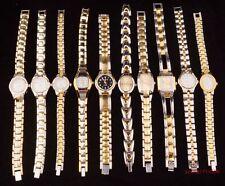 New 10pcs Golden Mixed ladies girl women Steel Bracelets Wrist watches Gift WM11