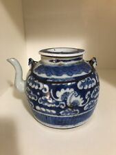 antique chinese blue white teapots