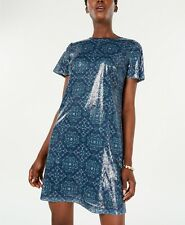 Michael Kors Women's Majorelle Medallion Sequin Dress Size Large $175.00