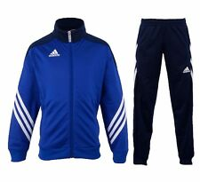 adidas Football Youth Soccer Sereno 14 Polyester Suit Tracksuit Boys Blue White 164