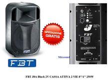 FBT JOLLY 8A J8A 2V 250WATT NUOVO MODELLO CASSA ATTIVA AMPLIFICATA MONITOR D.J.