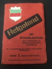 Helgoland 10 AK Ansichtskarten Heft Leporello