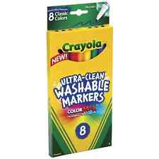 Crayola Ultra-Clean Washable Markers,Color Max,Fine Line Classic Colors 8 Ea 2pk