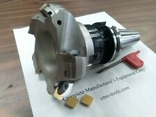 4 45 Degree Indexable Face Shell Mill W Cat40 Arbor Face Milling Cutter New