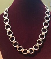 Cazz Designer Hand Crafted Heavy Solid Sterling Silver Necklace 53.4gm