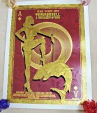 Thunderball Limited 2012 firmado poster de cine de 007 David o'daniel Alien Corsé