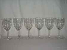 "Vintage (6) 6 1/2"" Fostoria New Adam Etched Water Goblets RARE"
