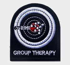 GROUP THERAPY Target Shooting Military Tactical Embroider Hook/Loop Morale Patch