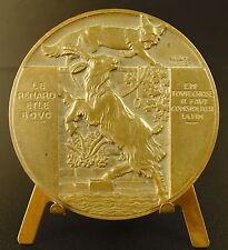Medaille der Fuchs et le Bock Fabel John von der Brunnen 40mm Vernon Medaille