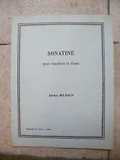 Partition Sonatine pour Hautbois et Piano Darius Milhaud Music Sheet