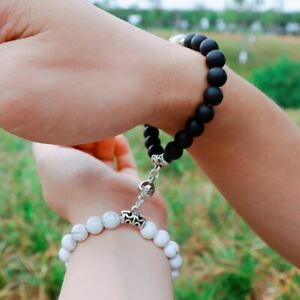 2 PCS / Matching Couple Bracelet Set Magnet attract Love Valentine's Day Present