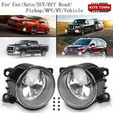 Pair Fog Lights For Fiat Honda Jaguar Lincoln Nissan Honda Subaru Suzuki Toyota