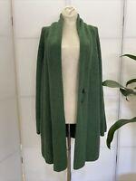 LKnew! XL J.Jill Alpaca Wool Blend Ribbed Tunic Cardigan Sweater -Pretty Green!