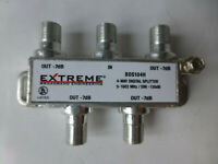 extreme 4 way splitter tv antena cable splitter coaxial 7bd bds104h
