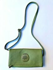 MULBERRY GREEN LEATHER CROSSBODY CLUTCH PURSE SHOULDER BAG