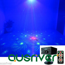 3 Lens 48 Pattern Laser Light Blue LED Stage DJ Show Lighting Sound Active New