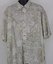 Mens Natural Issue Button Front Shirt Short Sleeve Size XL XLarge