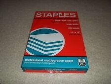 "New Sealed Staples 500 Sheets 11"" x 17"" Multipurpose 96 Bright White Paper 20 lb"