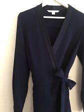 DVF Diane Von Furstenberg Blue Wide Leg Wrap Jumpsuit With FREE Marc Jacobs Gift