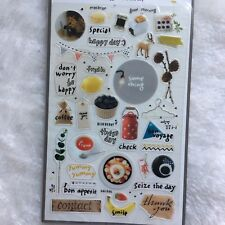 Seize the Day PVC stickers Travel Breakfast Scrapbook diary Cardmaking DIY