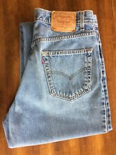 Vtg Levi'S 550 Relaxed Fit Jeans Made In The Usa Blue Men's Size 36 x 32