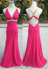 NWT FAVIANA $318 Cranberry Formal Evening Prom Gown 0