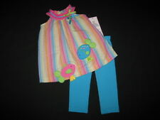 "NEW ""FISHY SOULMATES"" Capri Pants Girls Clothes 3m Spring Summer Baby Beach"