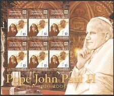 Dominica 2005 Pope John Paul II/Diana/Princess of Wales/Royalty 6v m/s (n40066)