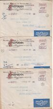 France 1951 Lot Of 3 Meter Airmail Covers To Argentina