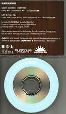 BLACKALICIOUS 7TRX Make you feel & Sky INSTRUMENTAL & ACAPELA PROMO DJ CD Single