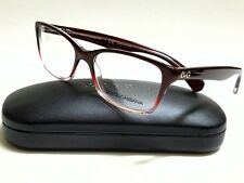 New Authentic DOLCE & GABBANA DD1246 2601 Red Gradient 52/16/135 Rx Eyeglasses