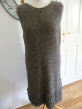 LA FEE MARABOUTEE KNITTED DRESS SIZE 4 ALPACA & WOOL V SOFT ITALIAN MADE VGC