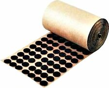 "Adhesive Back Felt Buttons 1,000 Brown Dots Pads 1/2"" Furniture Protection USA"