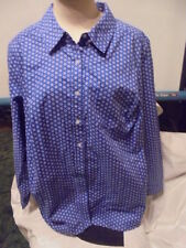 DENIM  & CO. BLUE FLORAL SHIRT.  SIZE  2 XL.  DISPLAY  MODEL  .NEW WITHOUT TAGS