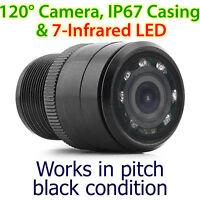 25mm Infrared IR CCD Waterproof Towbar Bumper Car Reversing Camera Parking OZ