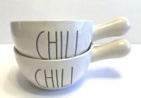 Rae Dunn  (2 Chili Bowl Crocks w/Handle)-Brand New (Ships Same Day!)