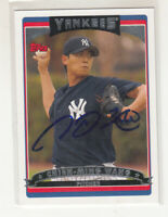 CHIEN-MING WANG 2006 Topps #87 Yankees Taiwan TTM / IP Autographed Signed