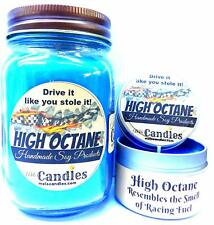 Combo - High Octane Race Fuel - 16oz Country Jar and 4oz Candle Tin Handmade Soy