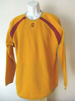 vtg USC Yellow GOLD MAJESTIC PULLOVER sweater sweatshirt Trojans FITS XL