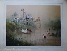 Angling Club by Robert Hagan 1016/1500 (860mm x 645mm)