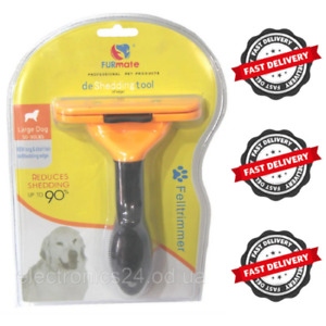 Fur Furminator Dog Deshedding Brush Pet Grooming Tool for Medium & Large Cats