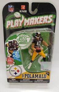 Troy Polamalu Pittsburgh Steelers Playmakers Figure NIB NFL 2010 McFarlane Toys