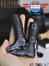 "KUMIK 1/6 scale Horse Riding Boots HOLLOW for 12"" Male Action Figure"