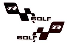VW Golf R Puerta Pegatinas Calcomanías de lado Adhesivos GTI Polo Scirocco X 2 Par