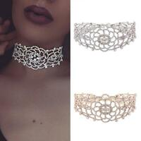Charm Pendant Necklace Crystal Rhinestone Choker Collar Women Wedding Jewelry #A